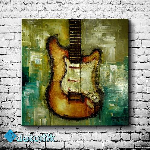 Soyut Gitar Kanvas Tablo II