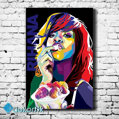 Pop Art Rihanna Tablo