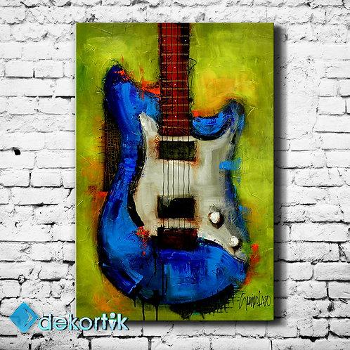 Soyut Gitar Kanvas Tablo I
