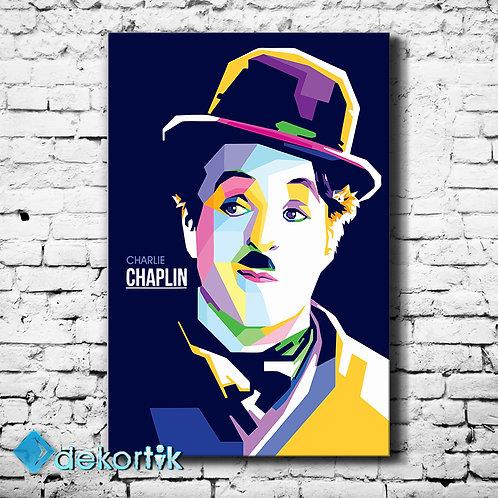 Pop Art Charlie Chaplin Tablo