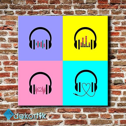 Müzik Kulaklık  Tablo
