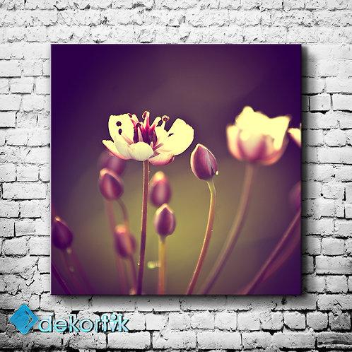 Floral Blurr Mor Tablo