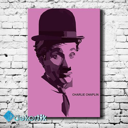 Charlie Chaplin Pink Tablo