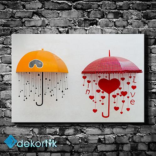 Renkli Şemsiyeler Tablo I