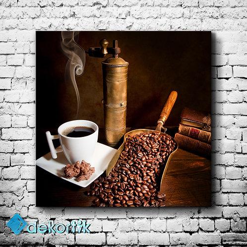 Kahve Değirmen Kanvas Tablo