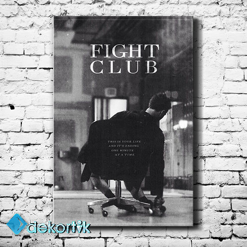 BW Fight Club Kanvas Tablo