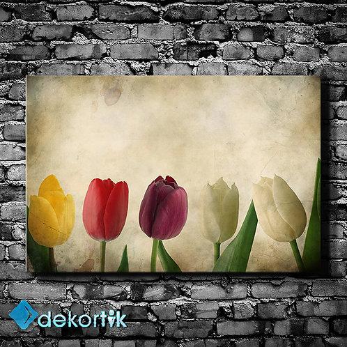 Floral Rankli Laleler Tablo