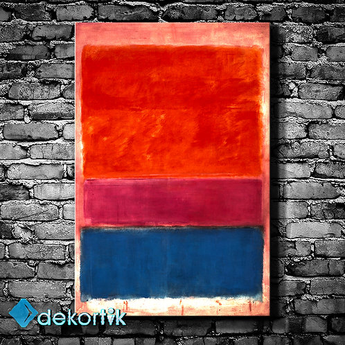 Abstract Royal Red And Blue Tablo