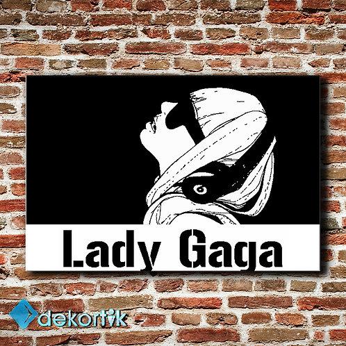 Black White Lady Gaga Tablo