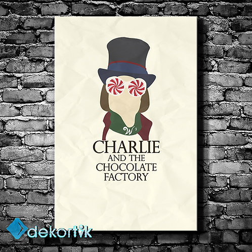 Charlie And The Chocolate Factory Kanvas Tablo