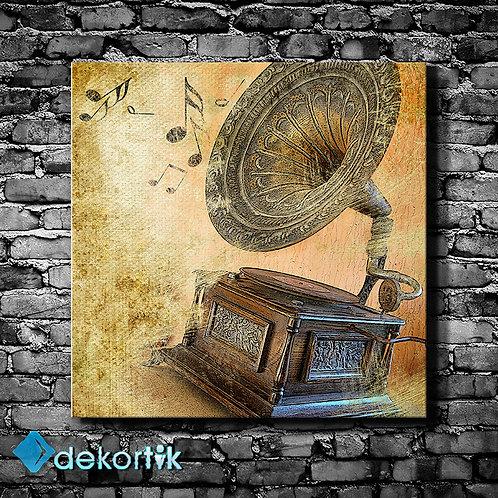 Vintage Gramofon Tablo