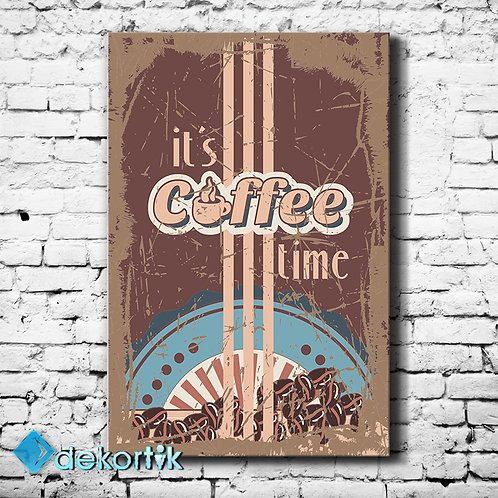 Vintage Coffee Time Tablo