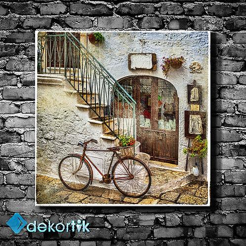 Retro Bike Kanvas Tablo