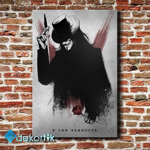 V For Vendetta Kanvas Tablo