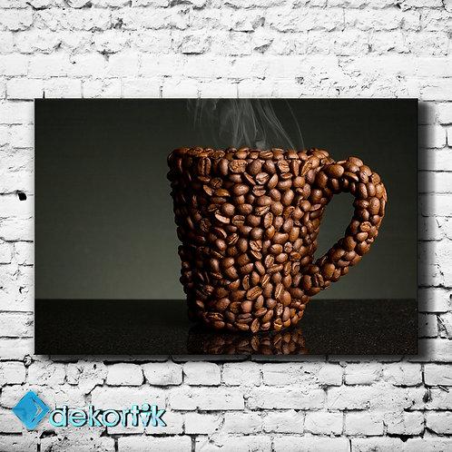 Kahve Bardak Kanvas Tablo
