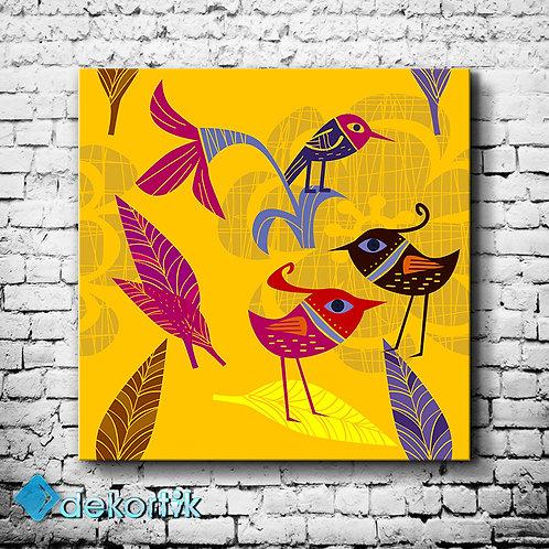Birds and Flowers Tablo