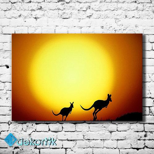 Kanguru Silüet Tablo