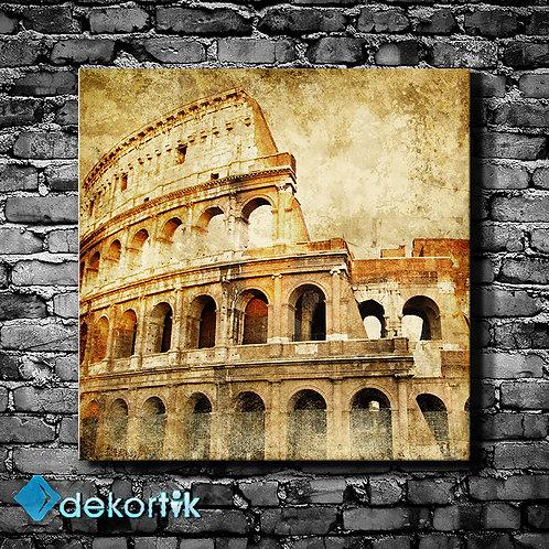 Vintage Colosseum Kanvas Tablo