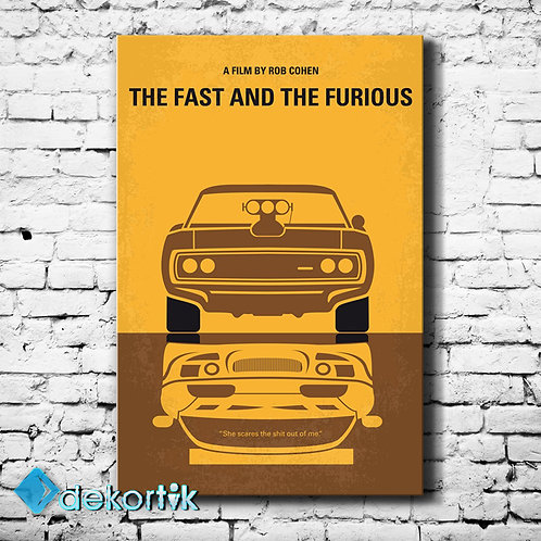 Fast And The Furious Kanvas Tablo