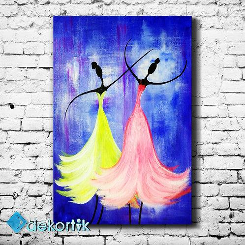 Dansçılar Kanvas Tablo