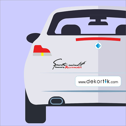 Sport Mind Citroen Sticker