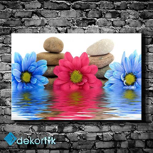 Çiçek Yansımalar Kanvas Tablo