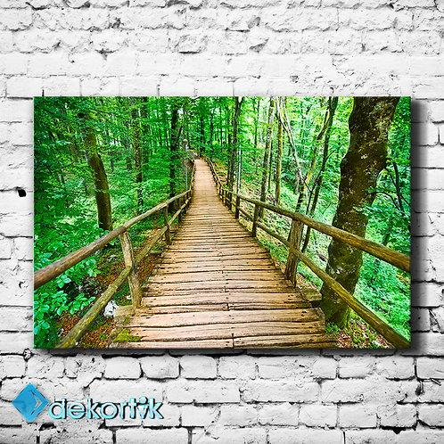 Natural Tahta Köprü Tablo