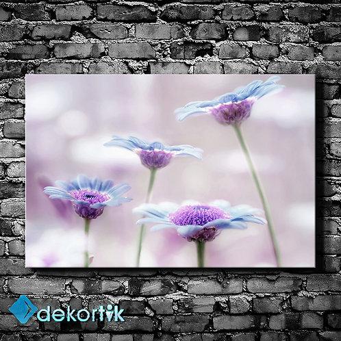 Flu Çiçekler Kanvas Tablo