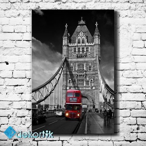 London Red Bus Tablo
