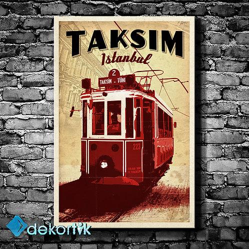 İstanbul Taksim Tranvay Tablo