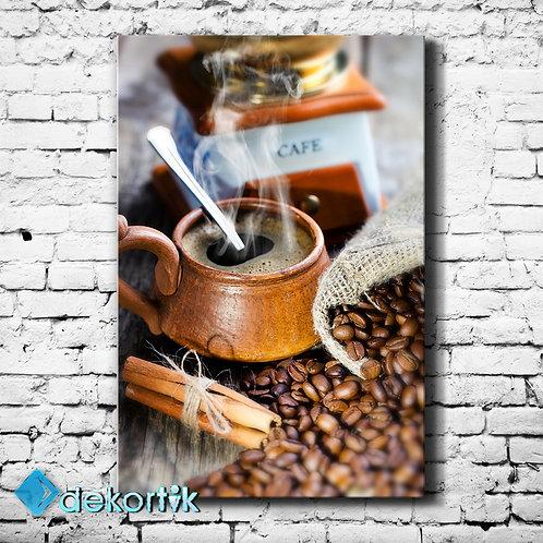Otantik Kahve Kanvas Tablo