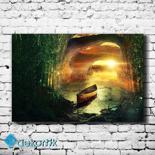 Fantastik Orman Kanvas Tablo