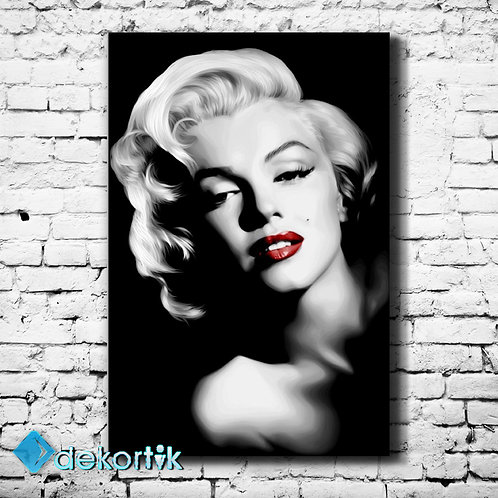 BW Marilyn Monroe Kanvas Tablo