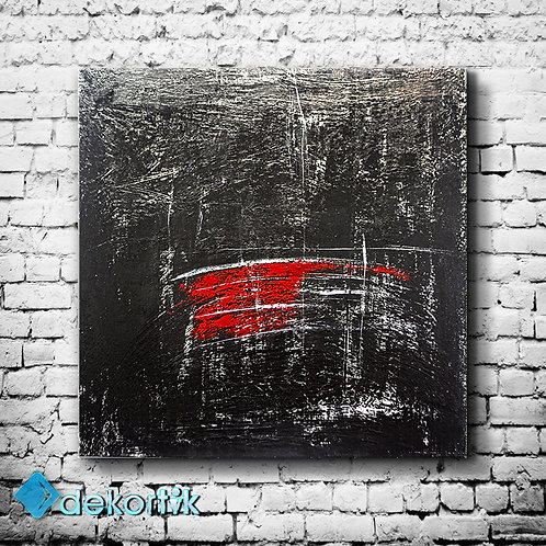 Abstract Black Wall Tablo