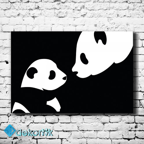Black White Panda Tablo