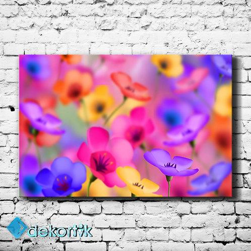 Renkler ve Çiçekler Tablo