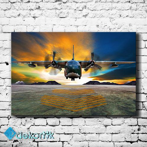Hercules Uçak Kanvas Tablo