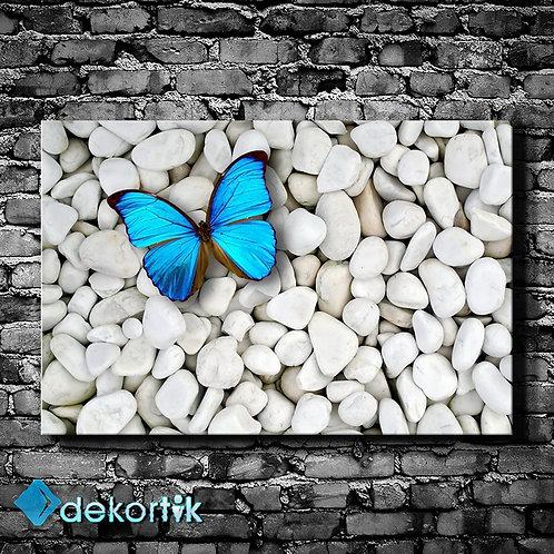 Mavi Kelebek Taşlar Tablo
