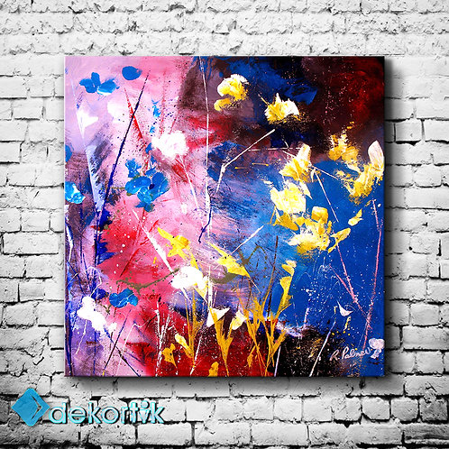 Abstract Wall Flowers Tablo I