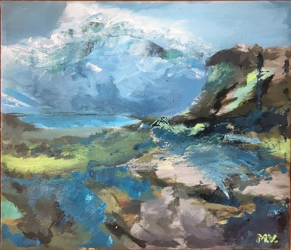 2019, akryl, 30 x 35 cm. B