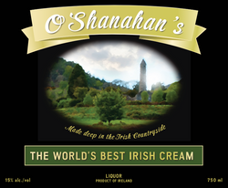 Irish Cream Label Prop