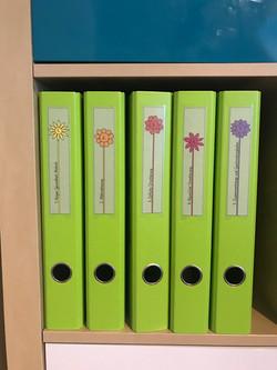 Ordnerbeschriftung.Blumen