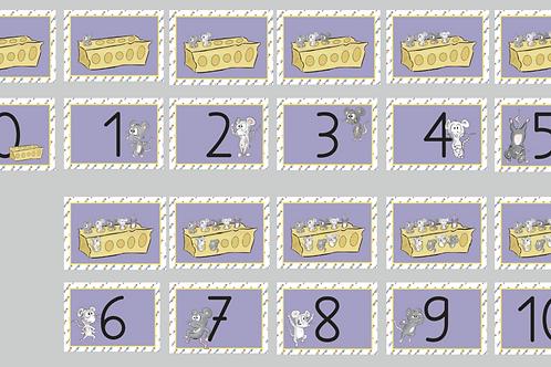 Zahlenmäuse-Karten