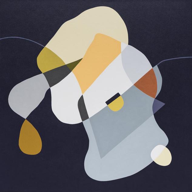 Balancing Act, acrylic on canvas, 96x96c