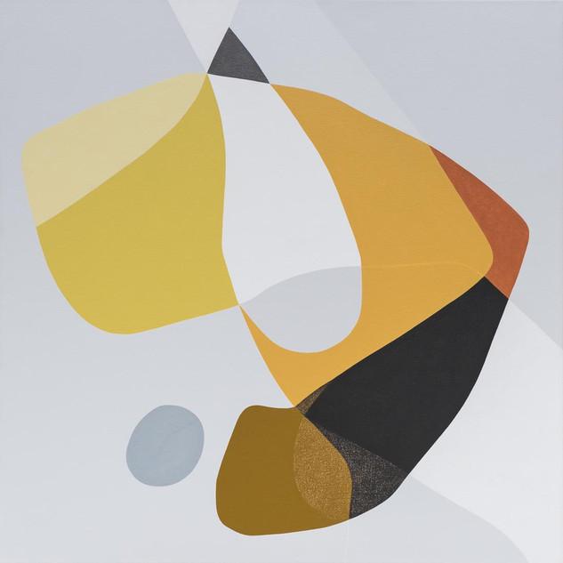Hindsight, acrylic on canvas, 96x96cm,20