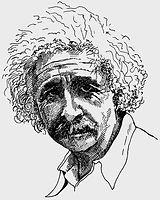 Albert Einstein portrait.