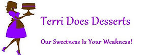Terri Does Desserts, Our Sweetness Is Your Weakness! logo.
