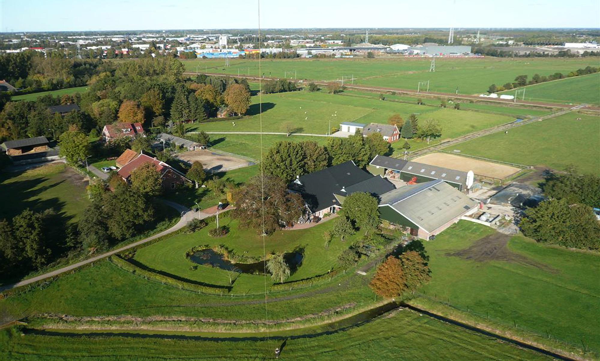 Luchtfoto terrein Yessea
