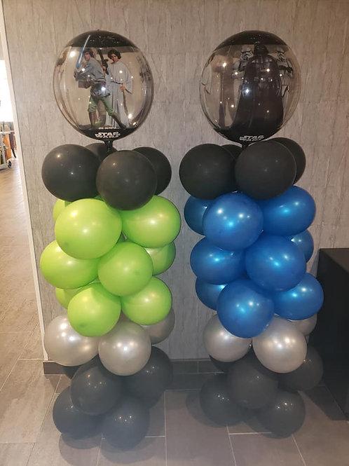 2 Pearlized Balloon columns
