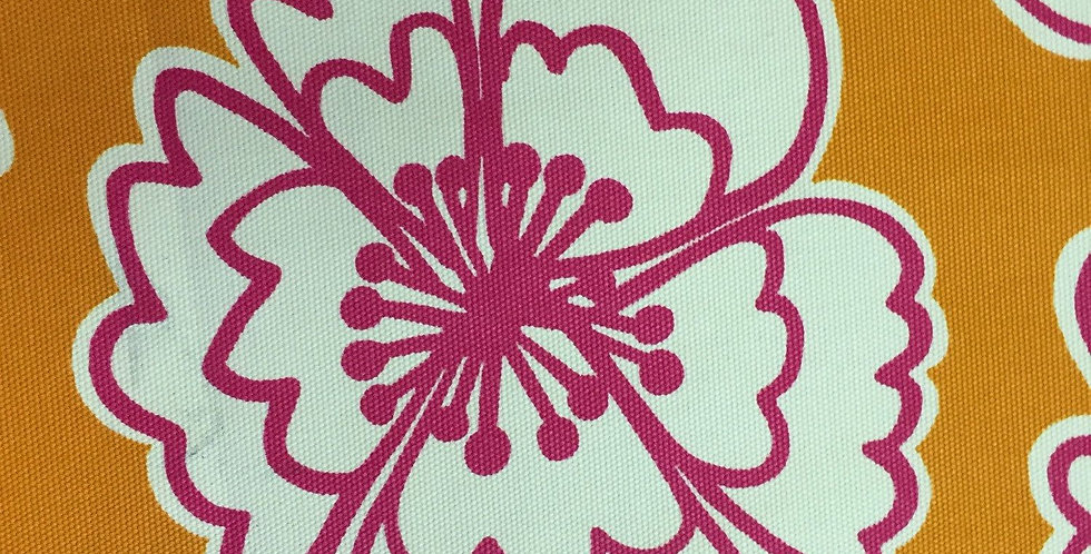 Modern Flower - Orange and Hot Pink